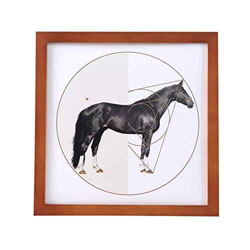 FSGSD Massivholz-Fotorahmen/Quadratischer Fotorahmen/Kann An Die Wand/Wohnzimmerdekorationswand/Displaywand/Plakatständer Gehängt Werden 13x13 Inch(33x33cm)