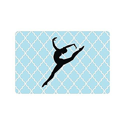 Shirley's deurmatten 23,6 X 15,7 Inch Hipster Gymnastiek Schaduw Op Blauw Wit Quatrefoil Binnen Buiten Vloer Mat Poort Pad Covers Woonkamer Slaapkamer Deurmat