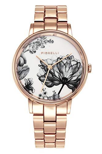 Fiorelli Damen Analog Quarz Uhr mit Aluminium Armband FO043RGM