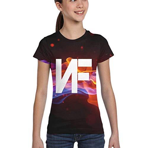 Rogerds Youth Girls' Classic NF Rapper Logo (2) Short Sleeve Tee T Shirt Inspired T-Shirt Tshirt Fan Clothes for Girls