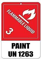 簡単に取り付けられる可燃性液体3ペイント国連1263、ヘビーデューティメタルティンサインアルミニウム看板ポスター警告プラークアートインテリアガレージホーム用プレドリル穴