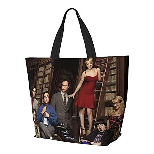 High School Musical Big Bang Theory TBBT Schultertasche Multifunktionale Große Kapazität Handtasche Tablet Taschen Weekender Reisetasche Strandsack