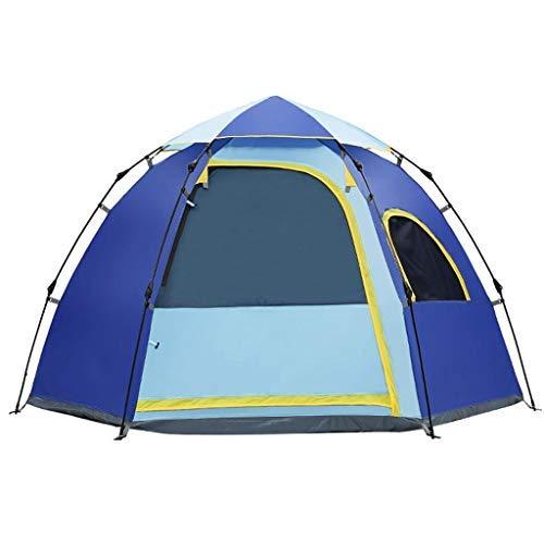 YBB-YB YankimX - Tienda de campaña hidráulica de resorte para camping, totalmente automática, de apertura rápida, resistente al agua, fácil de instalar rápidamente (color: azul)