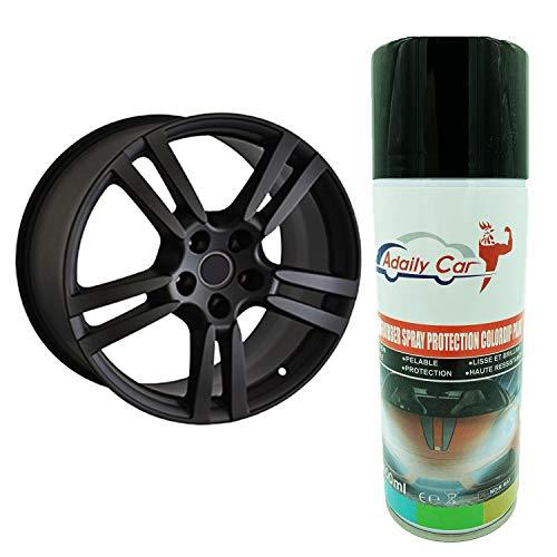 ADAILY CAR Wrapping Spray Dip Covering Full Plasti Nero Opaco Per Cerchioni-1 Flacone Da 400 Ml-Di Qualità Professionale