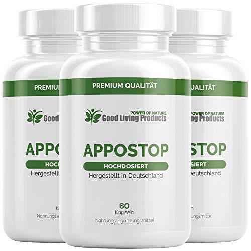 Appo Stopp | Der Appetitzügler EXTREM | Natürliches Mittel | Schnell und erfolgreich für Frauen und Männer | 60 Kapseln | Hergestellt in Deutschland (3)