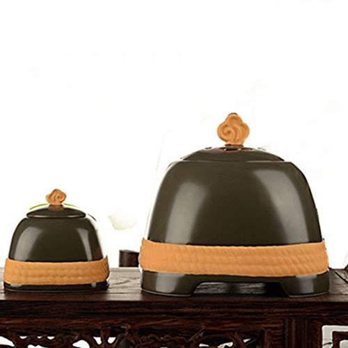 DGDG Elektrische keramische olie brander & geur kaars Wax Warmer, Geweldige decoratie voor woonkamer, Balkon, Patio, veranda en tuin, High-end Japanse stijl Timed Thermostaat