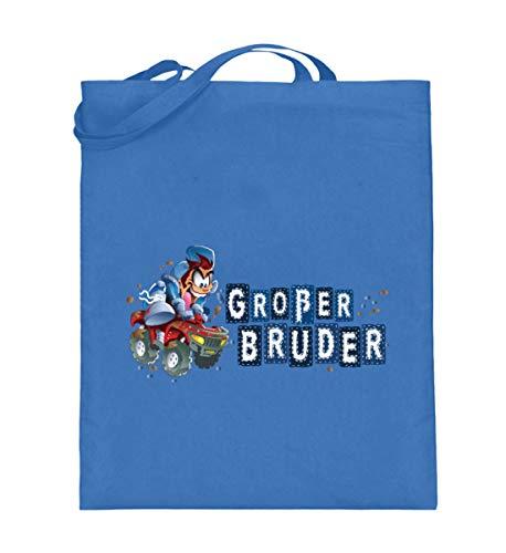 MDMA Großer Bruder Wild Quad Comic Boy - Jutebeutel (mit langen Henkeln) -38cm-42cm-Blau