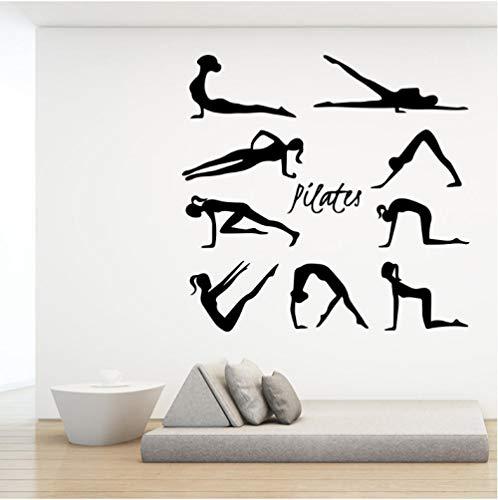 Belleza Pilates Etiqueta De La Pared Estudio De Yoga Habitación De Los Niños Dormitorio De La Niña Sala De Estar Sofá Decoración Mural Wallpaper Poster 60Cmx57Cm
