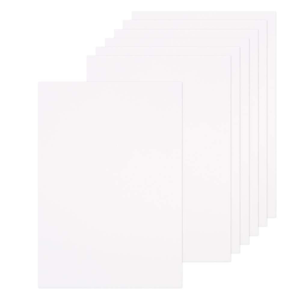 WANDIC Card Paper Board, 12 Hojas de cartón de aglomerado A4, Papel de estraza para álbum en el Interior de la página, Caja de Tarjetas de Bricolaje (1,5 mm de Grosor): Amazon.es:
