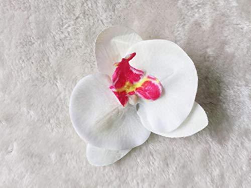 LLine Fleur Cheveux Accessoires pour Les Femmes Mariée Plage Rose Floral Cheveux Clips DIY Mariée Coiffure Broche De Mariage Épingle À Cheveux, Blanc avec Rose