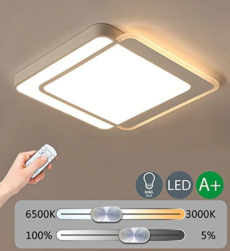 Place LED Plafond éclairage DIMM Bar plafonnier moderne Lampe Plafonnier créatif décoration éclairage intérieur beau design unique acrylique abat-jour Salon Chambre Lumières 44 W 2980 lm