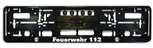 Nummernschildhalter FEUERWEHR und Signet Retten-Löschen-Bergen-Schützen Kennzeichenhalterung
