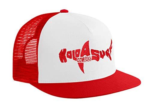 Koloa Shark(tm) Mesh Back Trucker Hat in Red/White Red Logo
