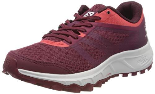 Salomon TRAILSTER 2 W, Zapatillas de Running para Asfalto Mujer, Rojo (Rhododendron/Red Bud/Cayenne), 38 EU