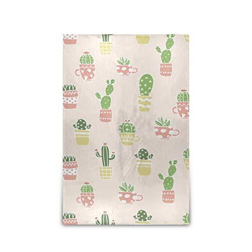 xigua Manta acogedora de microfelpa suave para cama, chal de 152 x 228 cm, para todas las estaciones, sofá o dormitorio, adorable cactus