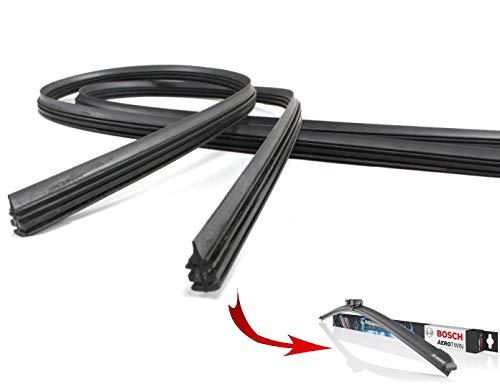 650/450 2x Wischergummi Scheibenwischer Gummis Ersatz Kompatibel mit Bosch Aerotwin Scheibenwischer INION® (2x Ersatzgummi 650mm 450mm)