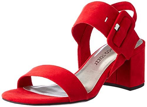 Marco Tozzi Damen 2-2-28304-26 Sandale mit Absatz, RED, 42 EU