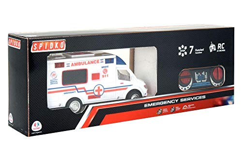 Globo, R/C Ambulance W/Light/Sound/Full Function (38924), Multicolore (1)