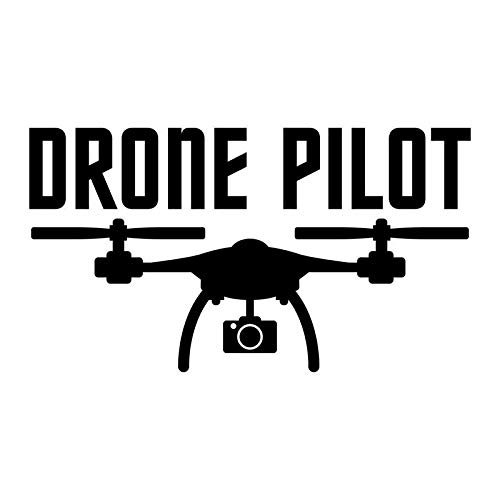 Drone Pilot Vinyl Decal Sticker | Cars Trucks Vans SUVs Walls Cups Laptops | 5 Inch | Black | KCD2682B