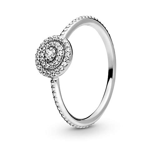 Pandora Jewelry Elegant Sparkle Cubic Zirconia Ring in Sterling Silver, Size 6