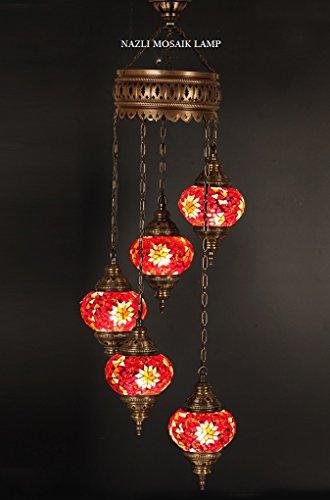 Mosaik Kronleuchter, Türkisch, Mosaik-Lampe, marokkanische Laterne
