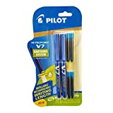 Pilot V7 Hi-tecpoint Roller ball pen with Cartridge System - 2 Blue Pens