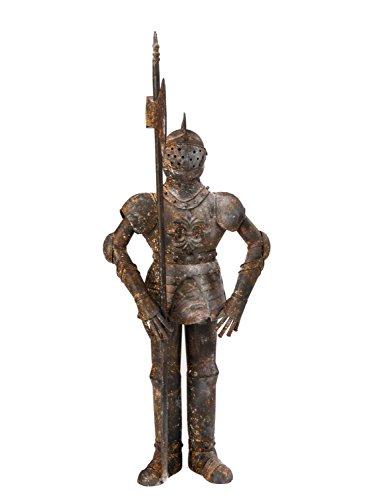 Escultura Knight 92cm Armadura de Hierro oxidada Armadura de Hierro de Estilo