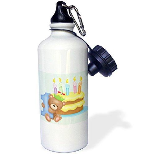 ANGELA G Een Jaar Verjaardag Beer Cake En Kaarsen - Sport Water Fles, 21oz