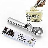 Cuchara de helado de acero inoxidable,Cuchara Helado, para sandía, hornear y helado Cuchara para frutas bqls
