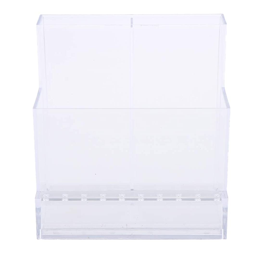 オン置くためにパックピルSharplace ネイルアート ドリルビットホルダー スタンド ディスプレイボックス ネイルサロン 収納ボックス 2色選べ - クリア