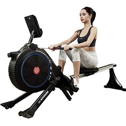 Rudergeräte Rudergerät Windwiderstand + magnetische Kontrollstufe 8 kann den Schwierigkeitsgrad einstellen - schwarz