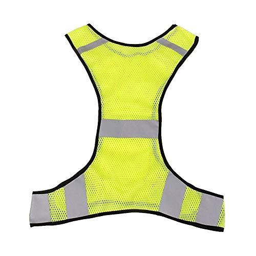 Gobesty Chaleco Reflectante de Alta Visibilidad, Chaleco de Seguridad de Alta Visibilidad, Chaleco de Alta Visibilidad para Adultos y niños, para Correr, Ciclismo, Caminar, Correr