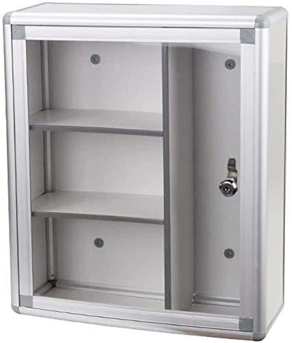 NMBD Heimzubehör Notfall-Case Medical-Aufbewahrungsbehälter, abschließbare Wand befestigte Medizin-Schrank mit Sicherheitsglastür