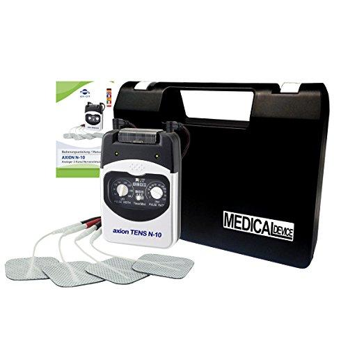 Electroestimulador axion TENS N 10-2 canales & 4 programas ajustables - Terapia del dolor y masaje - Perfecto para principiantes