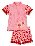 Playshoes UV-Schutz Bade-Set Erdbeeren Maillot Une Pièce, Rose (Original 900), 98 (Taille Fabricant: 98/104) Fille