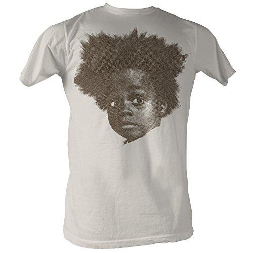 Our Gang Little Rascals 1930's Comedy Buckwheat Headshot Adult T-Shirt White
