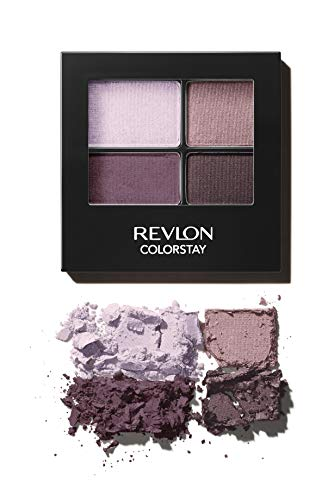 Revlon ColorStay 16 Hour Eyeshadow Quad with Dual-Ended Applicator Brush, Longwear, Intense Color Smooth Eye Makeup for Day & Night, Precocious (510), 0.16 oz