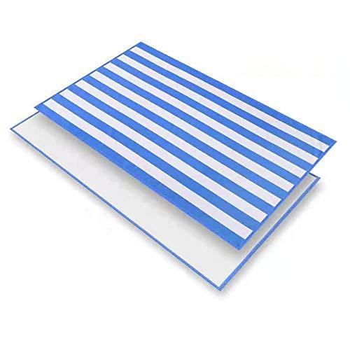 Burhetten Toalla de playa, ligera, de secado rápido, ligera, fina, de 80 x 130 cm, toalla de piscina, toalla de baño, manta de viaje, baño, camping y picnic (rayas azules)