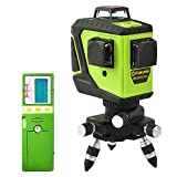 Fukuda 360°フルライングリーンレーザー墨出し器セット 12ライン 360°垂直*2・360°水平*1 MW-93T-2-3GJ レーザー墨出し器 レーザーレベル 水平器【本体+受光器セット】