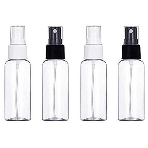 Dragonee 30ml Flacon Vaporisateur Vide, Atomiseur en Plastique Transparent Bouteille Portable Réutilisables pour Parfum, Cosmétique, L'eau (4pcs)