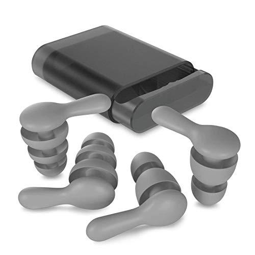 【2020最新開発の進化版耳栓】睡眠用耳栓 安眠 完全防音 聴覚過敏 遮音値32dB 睡眠 飛行機 仕事 勉強 水洗い可能 繰り返し使用可能 2ペア