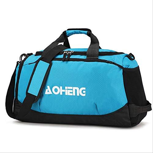 Große Sport Crossbody Taschen Frauen Reisen Handgepäck Koffer Männer Mode Lässig Wochenende Schuh Veranstalter Blau A