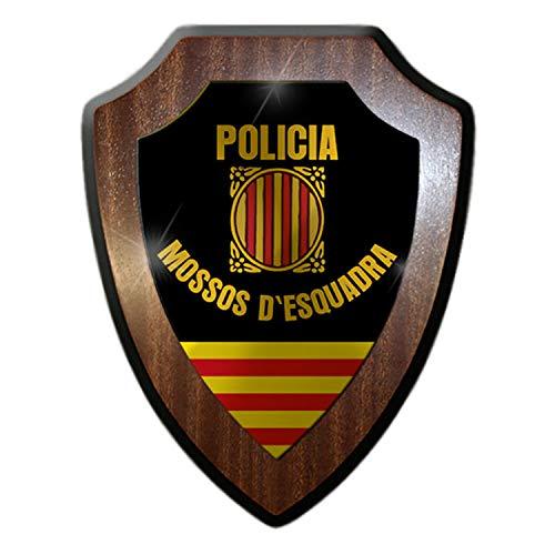 Escudo Cartel/pared Cartel–policia MOSSOS D 'esquadra de ventanilla Policía Cataluña España Escudo nadadores Emblema # 17321