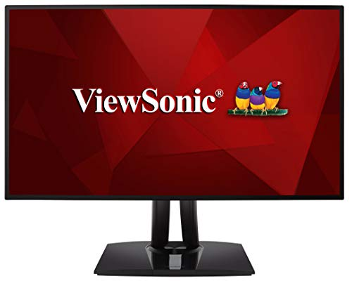 """Viewsonic ColorPro VP2768-4K Monitor para Fotografía de 27"""" con función de calibración 4K, IPS con Delta E <2, 100% sRGB, USB 3.0, HDMI 2.0, DP, Altura Ajustable, Negro"""
