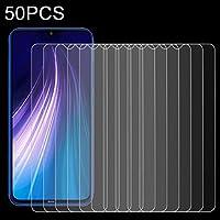 Yunchaoは電話で保護します.強化ガラスフィルム 小米科技Redmi注8 50 PCSの0.26ミリメートル9H 2.5D強化ガラスフィルムについて
