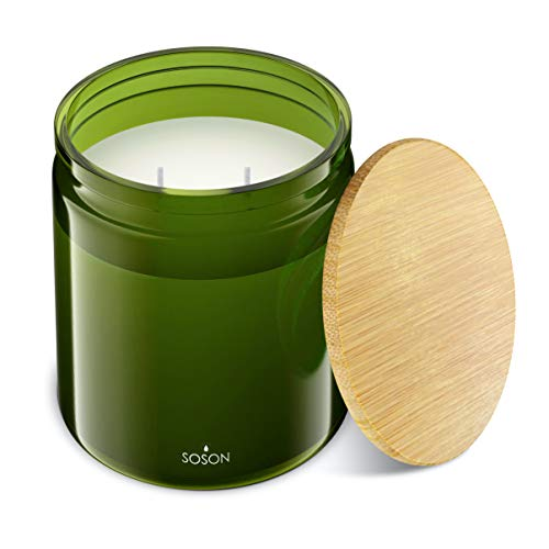 Simply Soson Ocean Waves | Fresh Scented Candles for Home Scented Candle Jars | Candle with Wooden Lid | Soy Candles Gifts for Women | Candles for Men | Green Candles | Aromatherapy Candle - 10oz