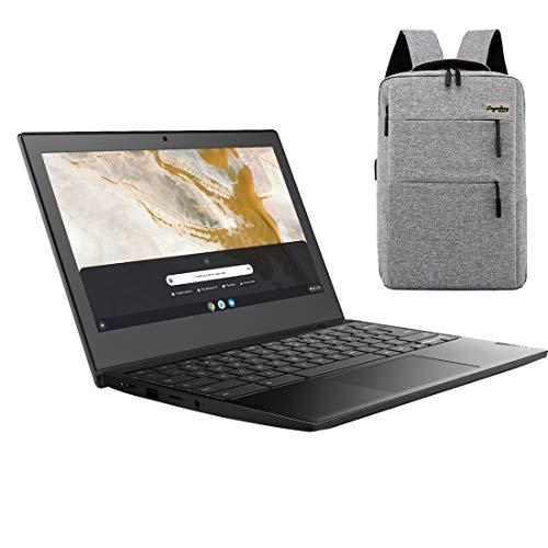 "2021_Lenovo 3 11"" Lightweight Chromebook, 11.6-Inch HD Display, AMD A6-9220C Dual-Core Processor, 4GB LPDDR3, 32GB eMMC, Webcam, Chrome OS, OnyxBlack /LegendaryAccessories"