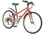 NEXTYLE(ネクスタイル) ジュニア クロスバイク 自転車 22インチ レッド 6段変速 NX-JC001 46576
