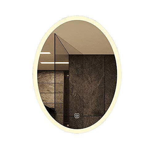 Specchio bagno ovale specchio a parete Lampada da trucco a LED specchio specchio antideflagrante specchio per la casa specchio da toilette specchio da parete specchio per riempimento a specchio