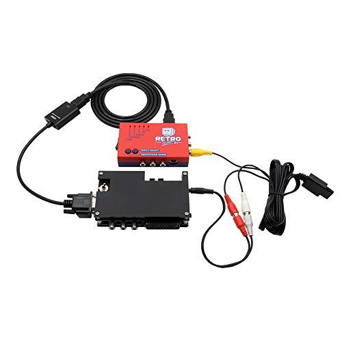 Passer Conversor HDMI, Consola de juegos retro HD Convertidor para RetroScaler2x AV a HDMI adaptador para N64/NES/Dreamcast/Saturn